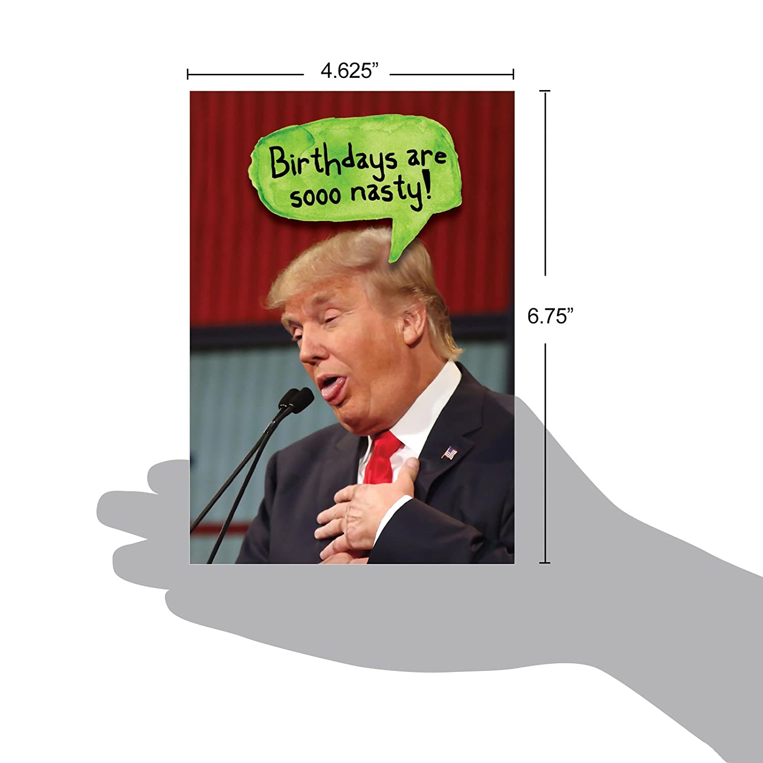 Trump Nasty Birthdays Hilarious Birthday Greeting Card With Envelope Office Products Jpg 1500x1500 Ecards
