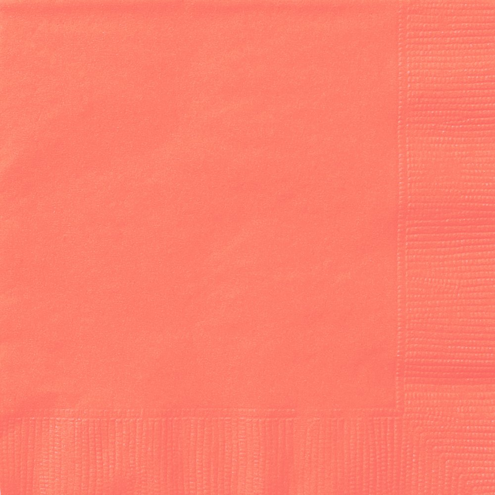 Unique Party 99232 - Coral Paper Napkins, Pack of 20