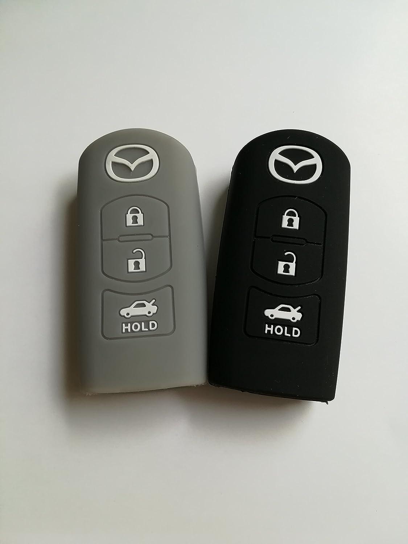 TCKEY Silicone Protective key Holder Protecting Bag Key Jacket Key Case Cover Fob Skin Key Holder for Mazda Cx-5 Cx-7 Cx-9 Mazda 3 5 6 Auto shop Car Key Jacket
