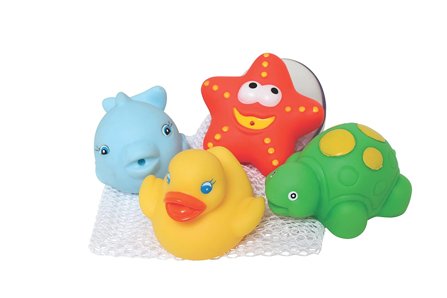 Playgro Bath Squirtees and Storage Set No-1 Best Toy for Baby-Infant-Toddler Children 0185452