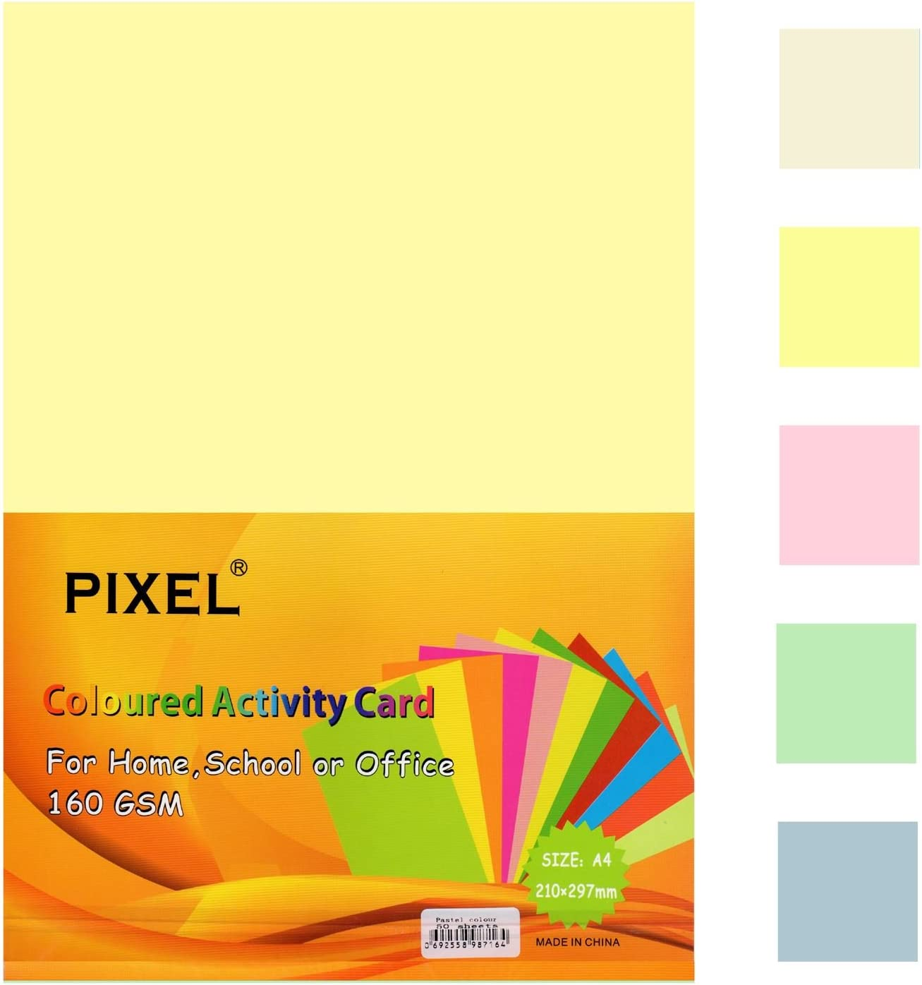 PASTEL YELLOW A4 Arts /& Craft Sheets 160gsm Card Laser Inkjet and Copier Printer
