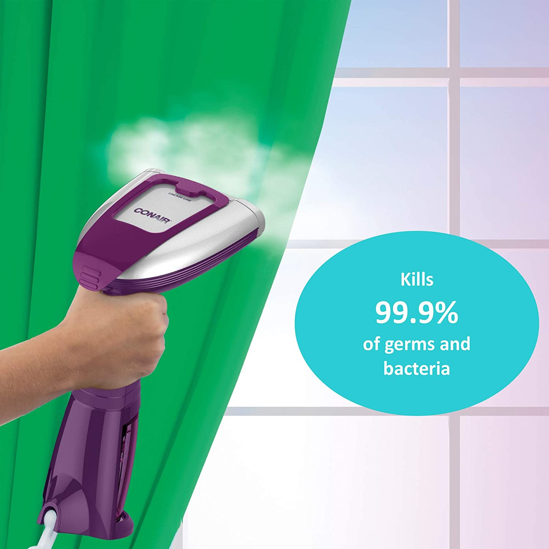 Conair Turbo Extreme Steam Hand Held Fabric Handheld Steamer Purple