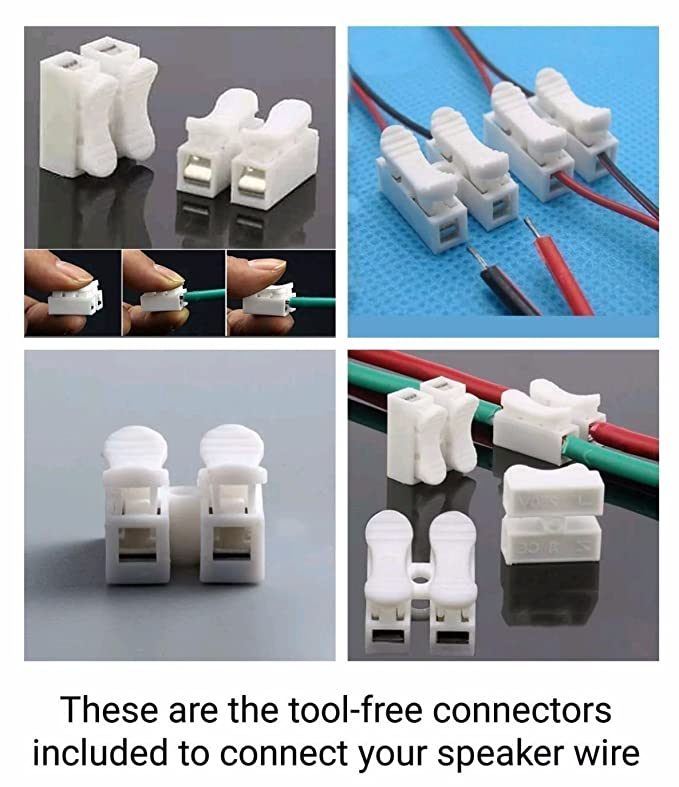 6 Home Theater Speaker Cable Wire Connectors for [Fit Sony|Samsung ...