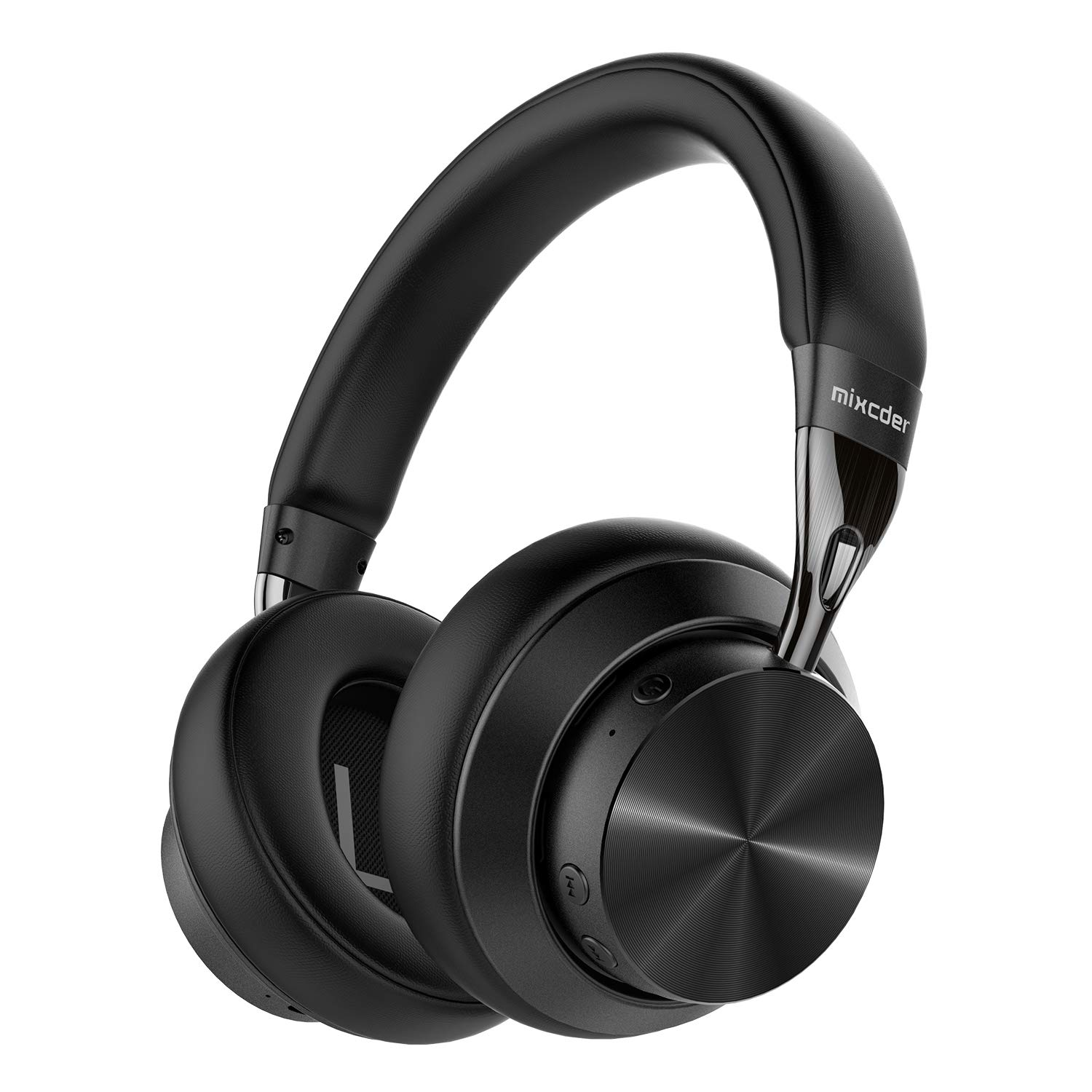 Mixcder E10 Active Noise Cancelling Headphones Wireless Bluetooth 5.0 Foldable Over Ear Headphones with aptX, Quick Charge, Hi-Fi Stereo Sound, 30 Hours Playtime, Black