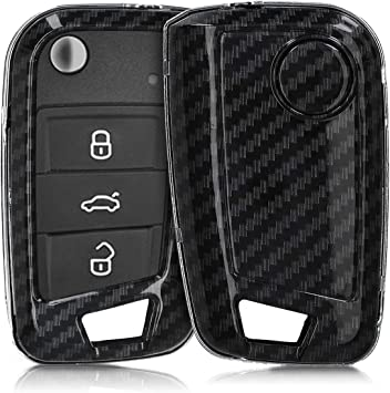 only Keyless Go Protective Plastic Key Fob Shell Replacement for Mercedes-Benz 2 Button Car Key kwmobile Car Key Case for Mercedes Benz - Black