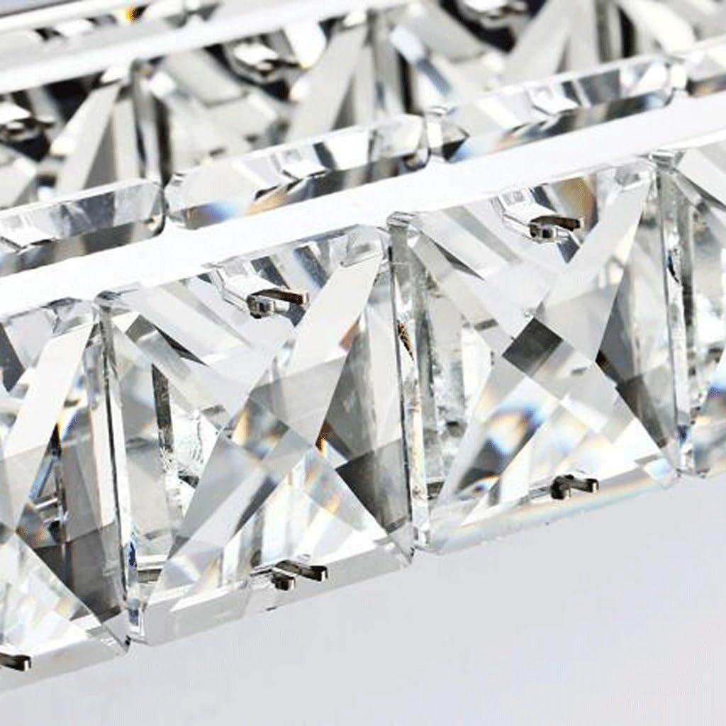 FAFZ Spiegel-vordere Lichter, Art und Weise einfache LED-Lichter, Kristallspiegel-Scheinwerfer, Schlafzimmer-Badezimmer-Spiegel-Lichter, Badezimmer-Luxuxbeleuchtung (Farbe : Weiß-23w-(87CM)-1*) Warmweiß-14w-(56cm)-3*