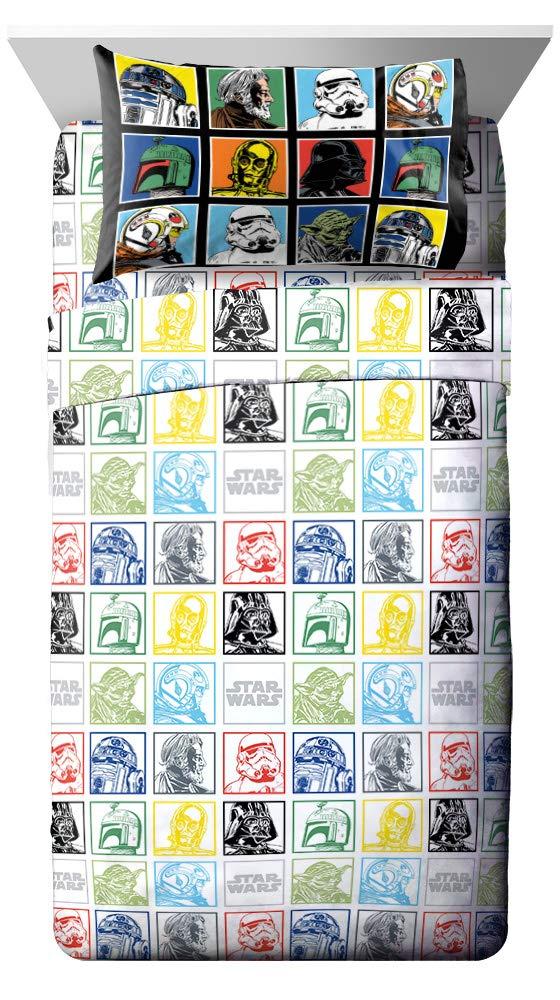 Jay Franco Star Wars Classic Grid 4 Piece Full Sheet Set