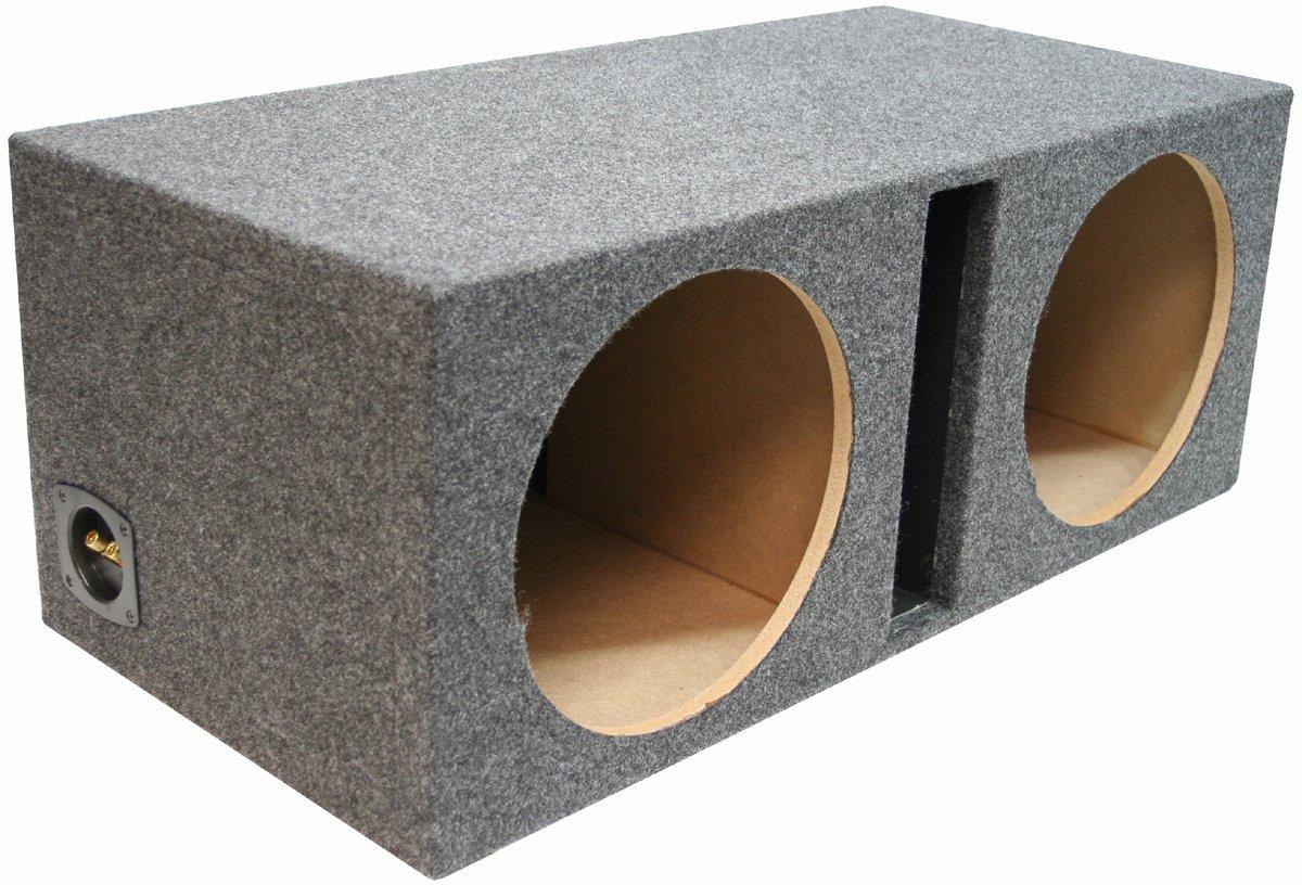 ASC Dual 12'' Subwoofer Universal Fit Vented Port Sub Box Speaker Enclosure