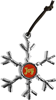 product image for Crosby & Taylor Pewter Joy Twig Snowflake Ornament