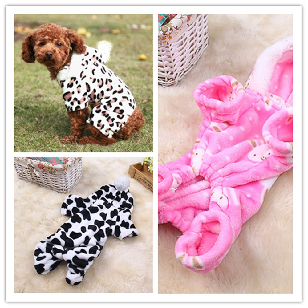 succeedtop Unisex Pet Winter Soft Clothes Puppy Dog Cat Vest T Shirt Coat Dress Sweater Apparel Puppy Outfits Small Dog Costume Apparel Coat Weekend Parties Dress Shirts Girl Boy Cosplay
