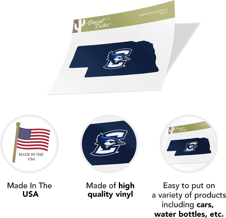 Creighton University CU Bluejays NCAA Vinyl Decal Laptop Water Bottle Car Scrapbook State Boarder Sticker