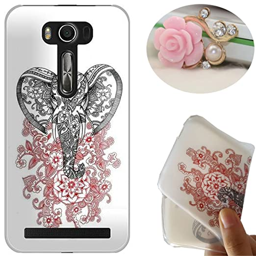 6 opinioni per Rockconcept Asus Zenfone 2 Laser ZE601KL Custodia, Disegno del Elefante Serie