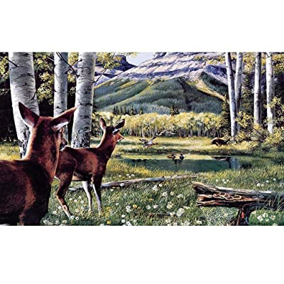 Jigsaw Puzzles 1000 Pieces Puzzles for Adults Children Deer Painting, Landscape Pattern 75x50 cm/29.52x19.68 inch Large Puzzles For Adults or Kids 14 and up Ages: Home Improvement
