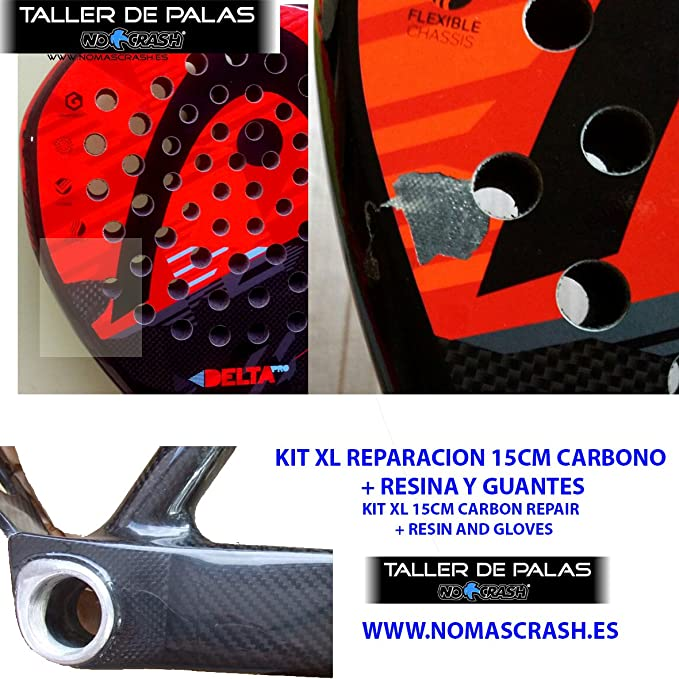 No+Crash Kit XL REPARACIÓN Palas Padel, Surf, Bicicletas ETC ...