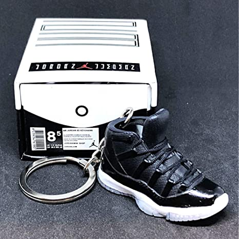 ccbc613387de0d Amazon.com  Air Jordan XI 11 High Retro 72-10 Black Red OG Sneakers Shoes 3D  Keychain 1 6 Figure + Shoe Box  Everything Else
