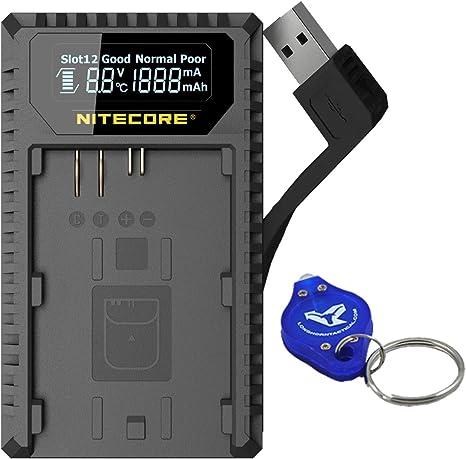 Nitecore nitucn1 Cargador Doble con Pantalla LCD para batería ...