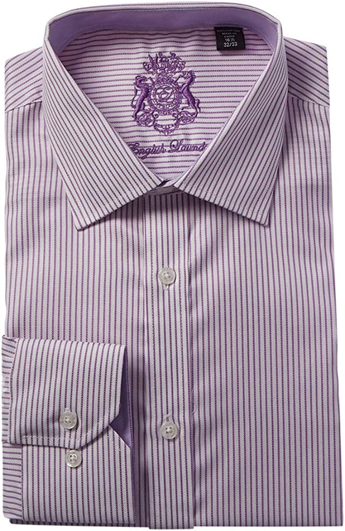 English Laundry Mens Dress Shirt 16 1//2 34X35 Lavender