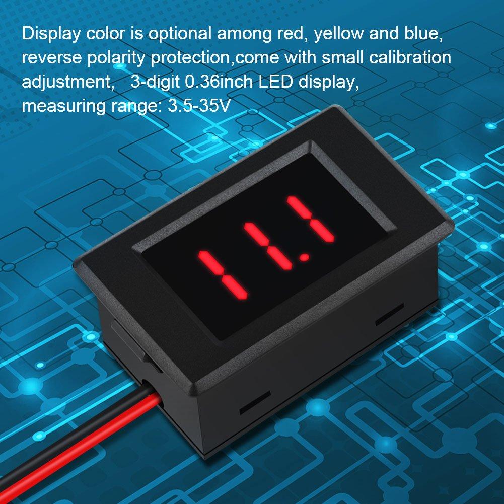 DC 3.5-35V 0.36 Digital Volt Meter Voltage Monitor 2 Wires LED Display Panel 1 Pc Red