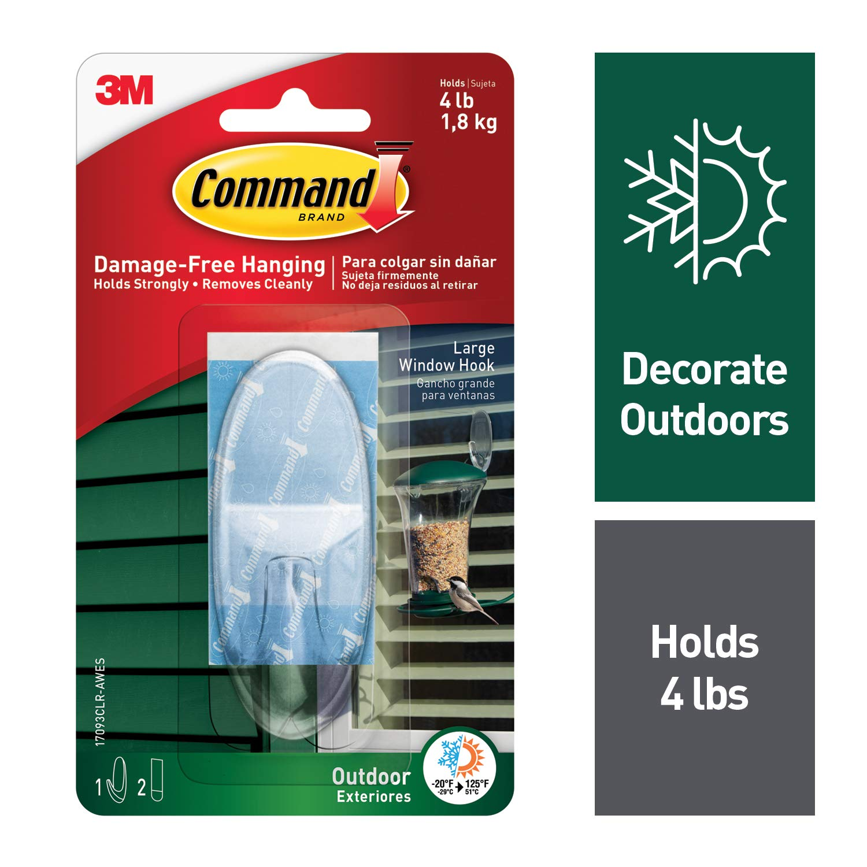 Amazon mand Outdoor Window Hook Clear 1 Hook
