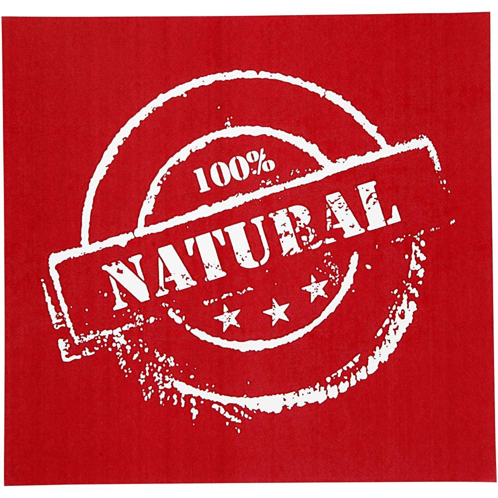 Plantilla para estarcido, hoja 20x22 cm, Natural, 1hoja Creativ Company
