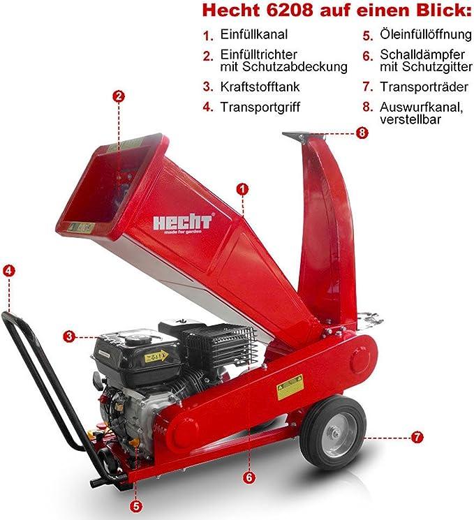 Trituradora de madera Hecht 6208 de gasolina, para jardín (5,2 kW ...