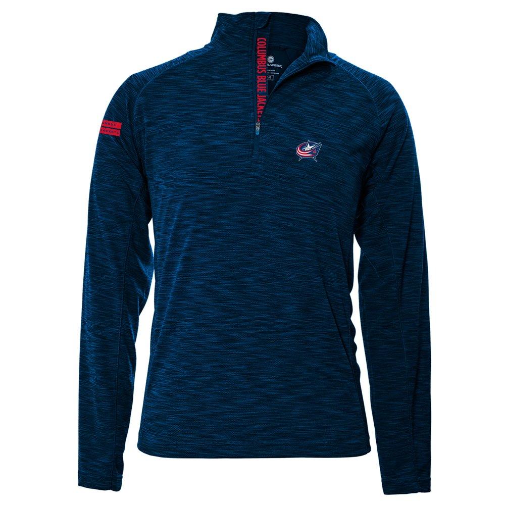 Levelwear LEY9R NHL(ナショナルホッケーリーグ)動きやすいインシグニアストロングスタイル クオータージップ ミットレイヤー B074PGDX3N Large|ネイビー|Columbus Blue Jackets ネイビー Large