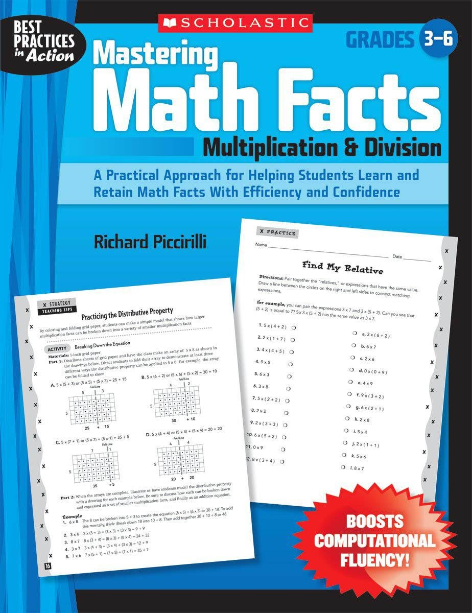 Amazon.com: Mastering Math Facts: Multiplication & Division: A ...