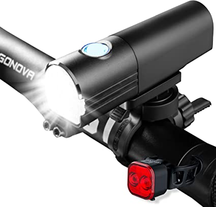 Bicycle Lights 800 Lumens Bike Light Front Rechargeable /& LED Rear Bike Light...