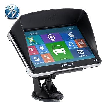 XGODY 704bt 7 Inch 8 GB LCD TFT pantalla táctil capacitiva GPS coche navegación GPS con mapas de Reino Unido y UE Bluetooth libre actualizaciones de mapas ...