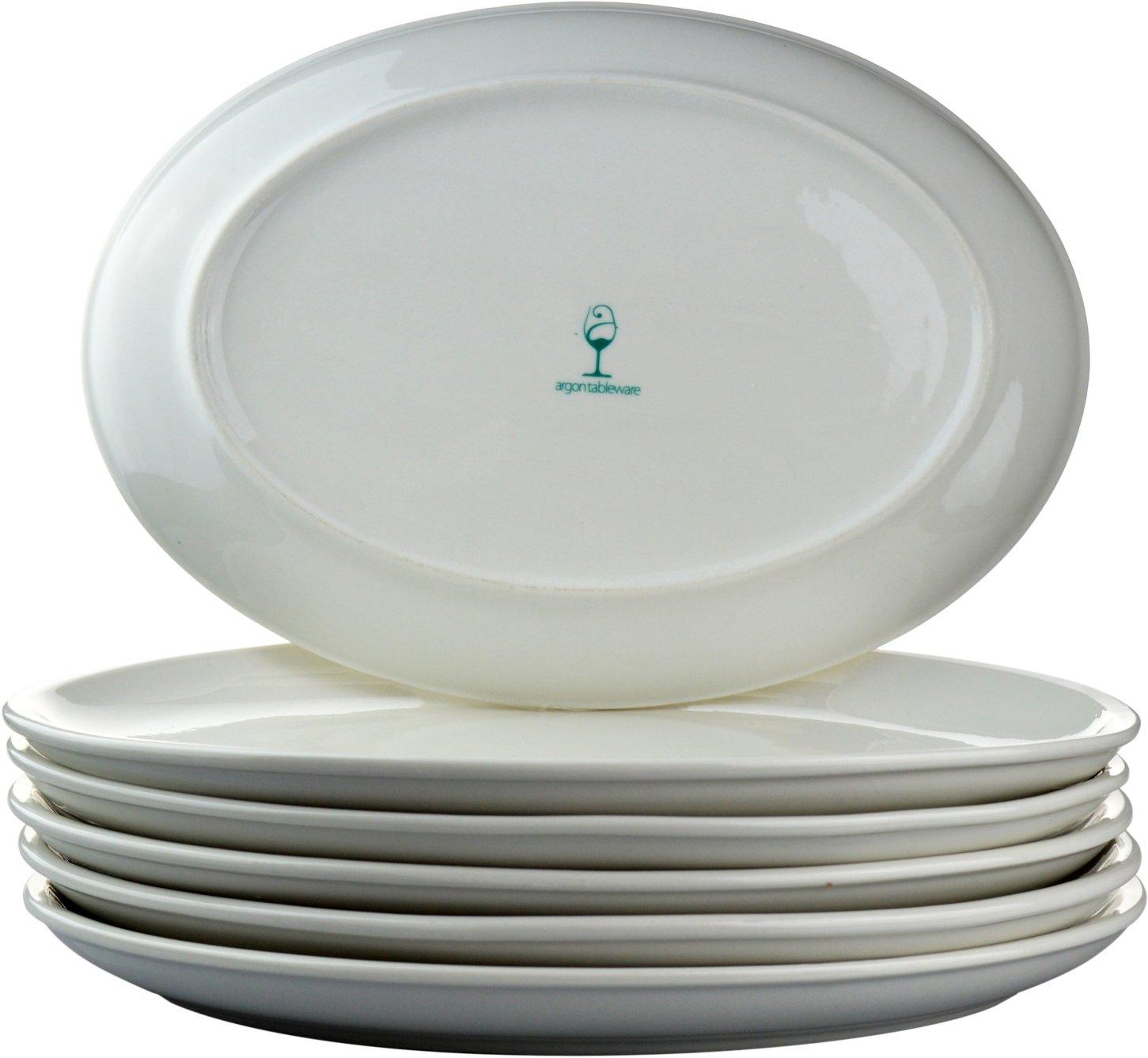 Argon Tableware White Oval Coupe Plates - 300x215mm (12x8.5\ ) - Box of 6 Amazon.co.uk Kitchen \u0026 Home  sc 1 st  Amazon UK & Argon Tableware White Oval Coupe Plates - 300x215mm (12x8.5\