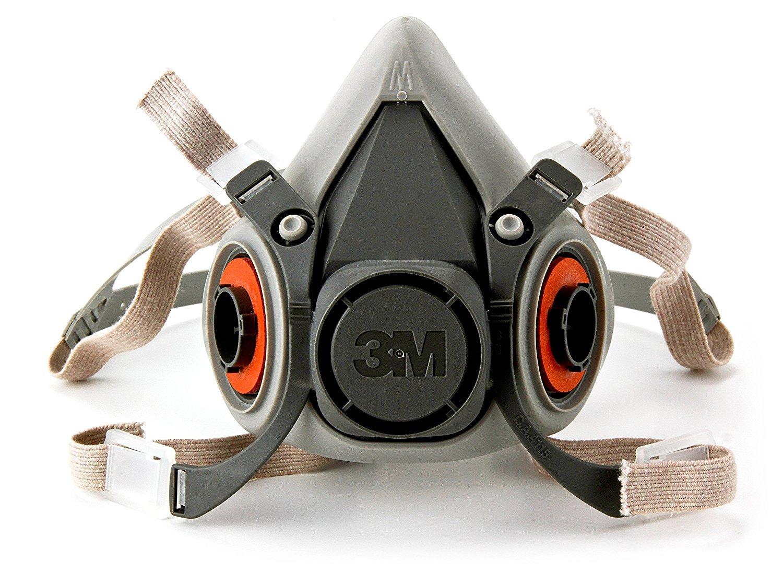 3M Half Facepiece Reusable Respirator 6200/07025(AAD), Respiratory Protection, Medium 1Case/24Each