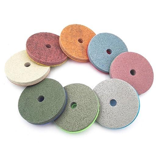 "8pcs 4/"" Sponge Sanding Disc Diamond Polishing Pads for Marble Artificial Stone"