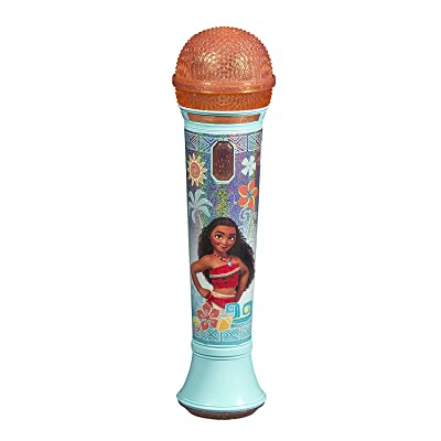 Disney Moana - SING -ALONE MP3 MICROPHONE - Sing Along With This Super Cool Microphone! Featuring Build-in Music from the Movie and Flashing Lights to Create the Ultimate Concert Right at Home!: Toys & Games