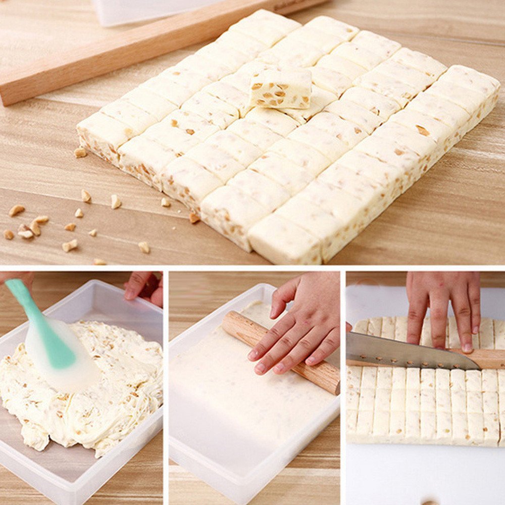Amazon.com: DIY Nougat Tray Set Silicone Cutting Rolling Pin Baking Candy Tools, Baking DIY Accessory - Easy to Operate and Clean Gessppo: Home & Kitchen