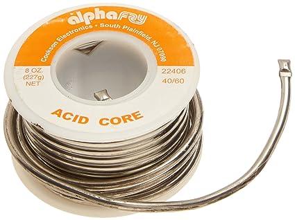 Alpha Fry AM22406 Cookson Elect 40/60 Acid Core Solder - - Amazon.com