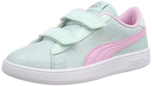 Puma Smash V2 Glitz Glam V PS, Zapatillas para Niñas: Amazon.es: Zapatos y complementos