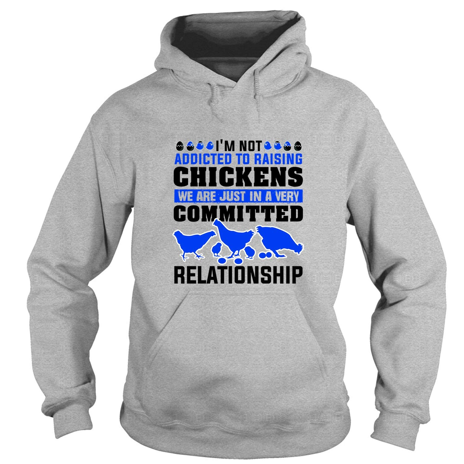 Amazon com: Chicken Lady Hoodies, I'm Not Addicted to