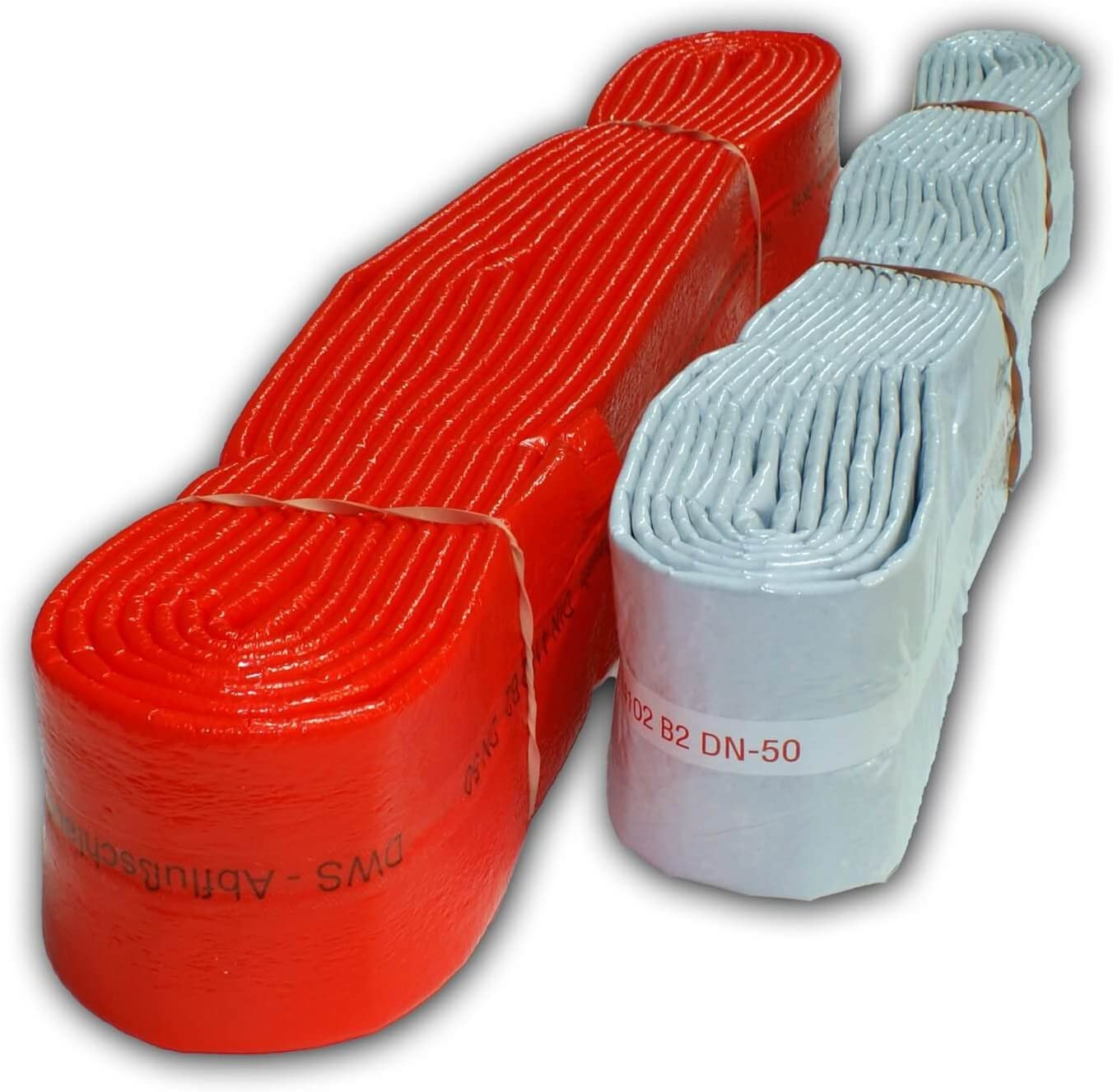 PE Isolierschlauch Schutzschlauch 15m D/ämmschlauch DN 50 mm rot Schallschutz HT KG Rohr Kanalrohr Isolierung Rohrisolierung D/ämmung Rohrd/ämmung