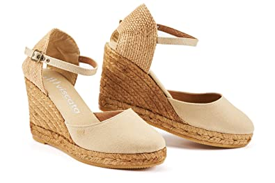 Womens Wedge Sandals Wedge Ankle-Strap Closed Toe Classic Espadrilles Heel Wedge Sandals