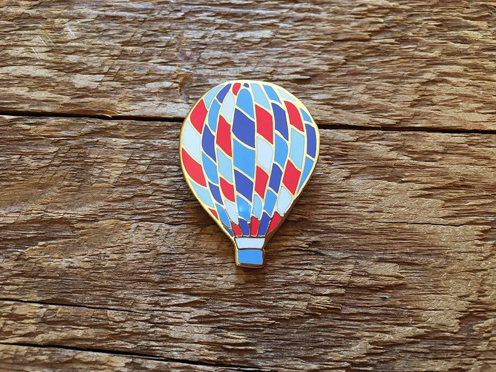 Hot Air Balloon Enamel Pin, Outdoors Enamel Pin, Single Hard Enamel Pin with Butterfly Clutch