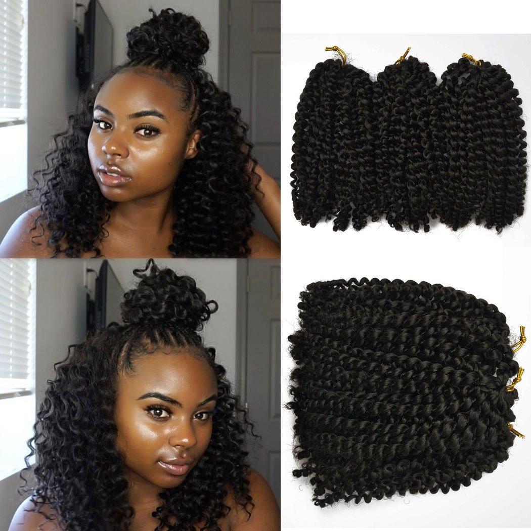 Amazon 6 Piece Flyteng 8 Inch Marlybob Kinky Curl Crochet Hair