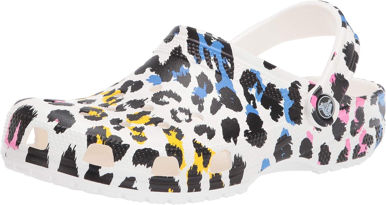 Crocs Men's and Women's Classic Animal Print Clog