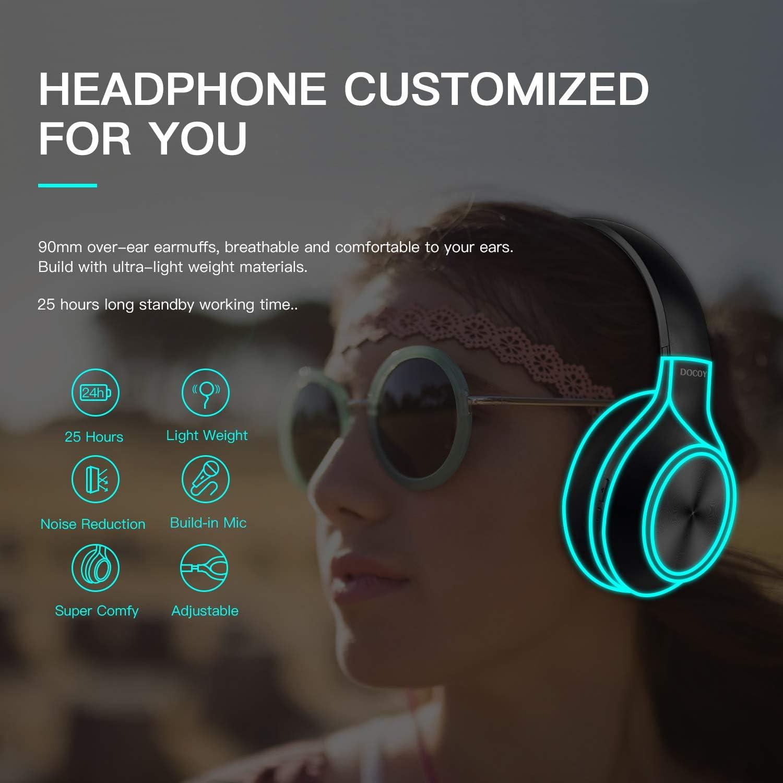 Amazon.com: Audífonos Bluetooth sobre oído, auriculares ...