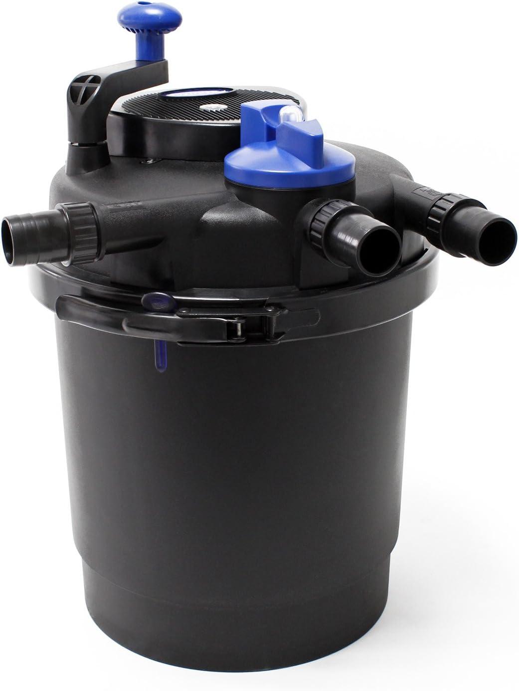 SunSun CPF-2500 Filtro presión lámpara UVC integrada 11W 6000 L/h estanques hasta 6000L Jardín Peces
