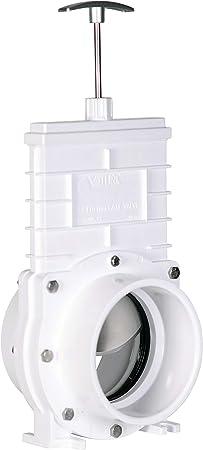White Valterra 6301 PVC Gate Valve 3 Slip