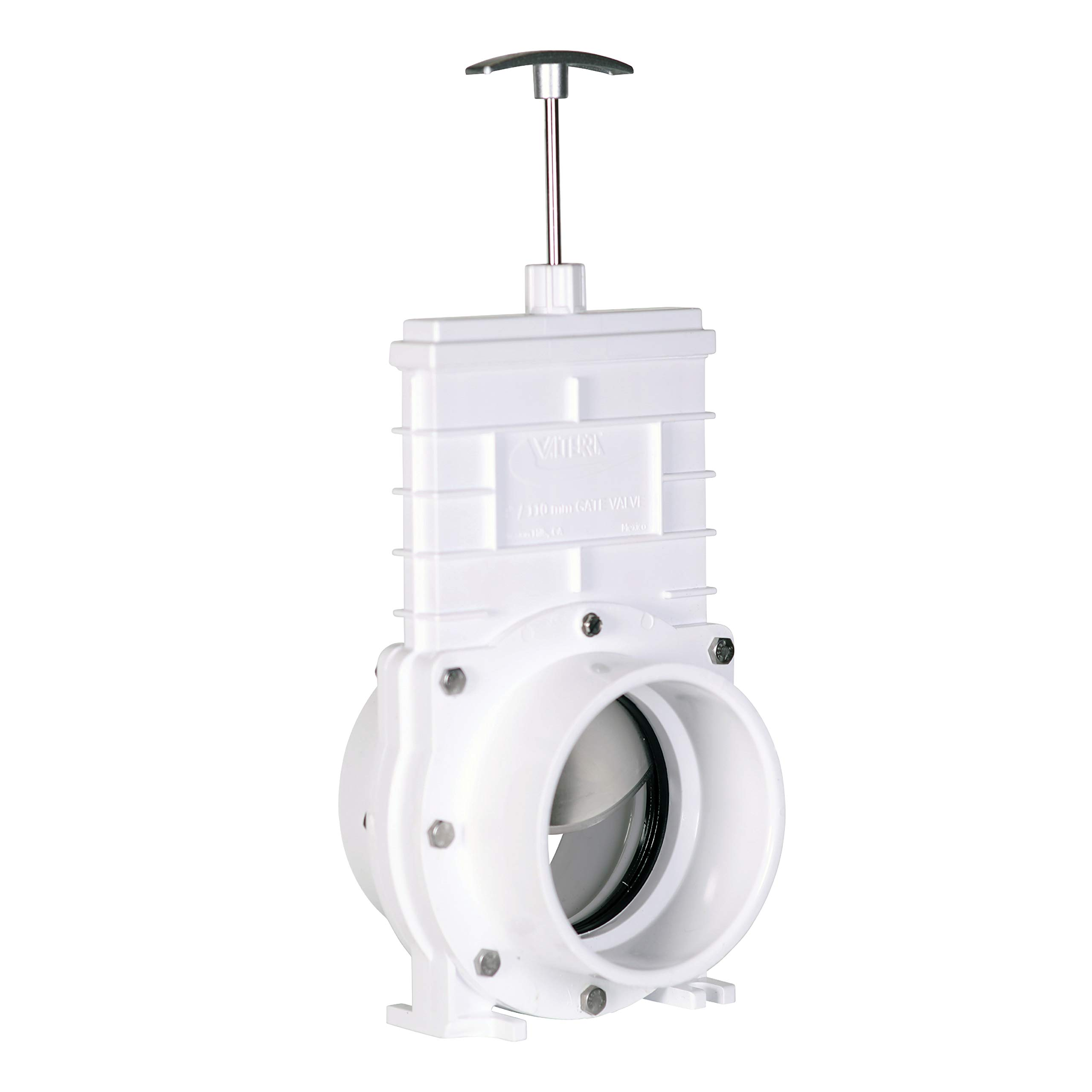 Valterra PVC Gate Valve for Irrigation, Landscape, and More - 4-Inch Slip x Slip Connection by Valterra
