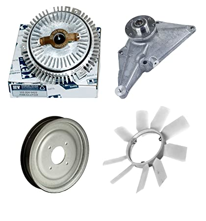 Amazon.com: MERCEDES W201 W124 W126 ENGINE COOLING FAN CLUTCH FAN BLADE PULLEY & BRACKET KIT: Automotive
