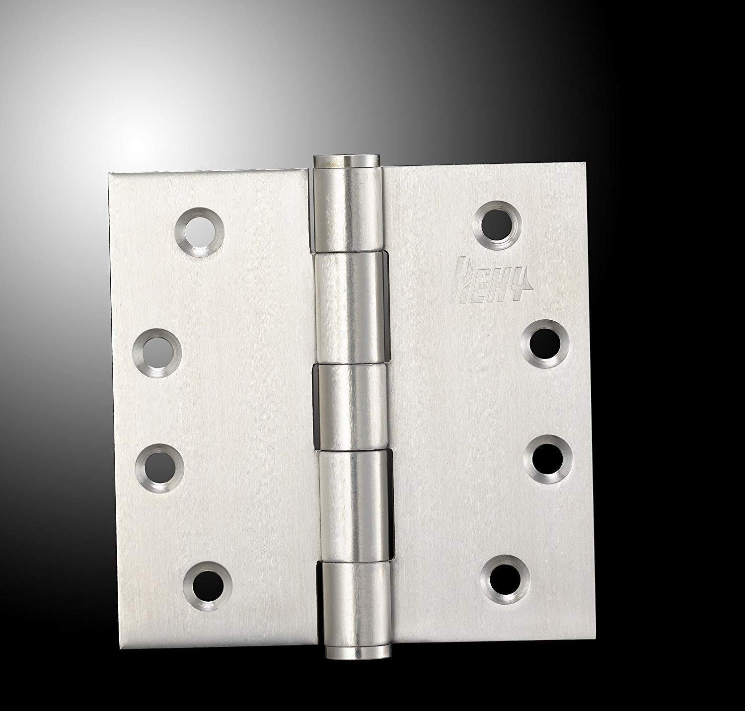 4 x 4 in x 2.5mm - Square Corner- 3 Pieces 3, Square Corner Hexy-304 Stainless Steel Heavy Duty Door Hinges Commercial Grade