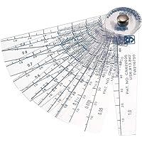 sourcingmap® 0,05-1mm Espesor de plástico taladros Galga Relleno