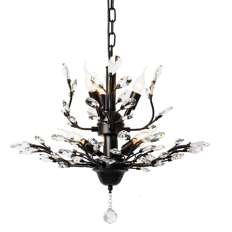 Amazon.com: Garwarm - Lámpara de techo con cristales estilo ...